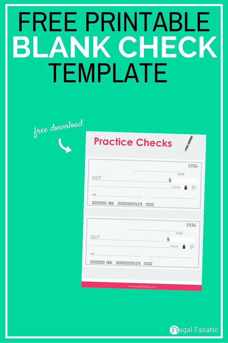 Blank Checks for Kids Luxury Blank Check Template Teaching Teens How to Manage Money