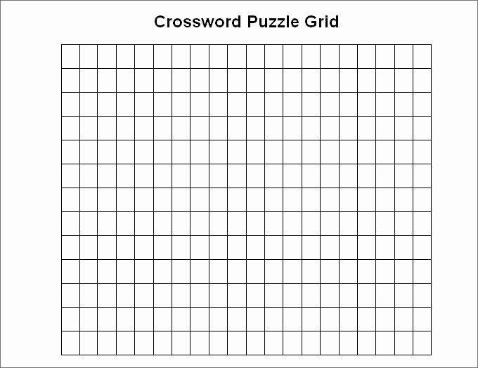 Blank Crossword Puzzle Maker Elegant 15 Blank Crossword Template Crossword Template