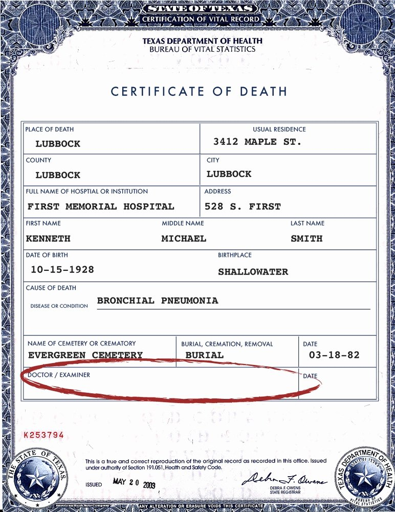 Blank Death Certificate form Inspirational Death Certificates