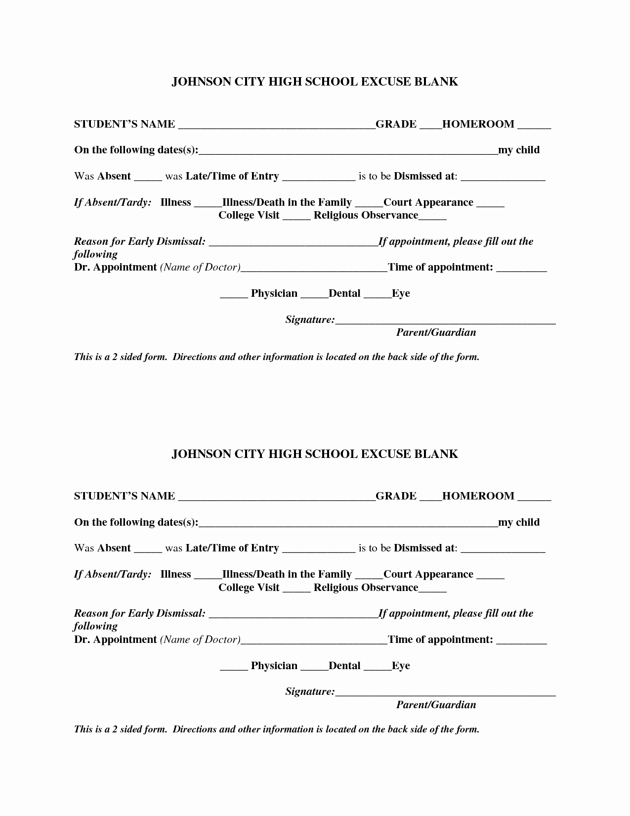 Blank Doctors Excuse form Best Of Template Printable Gallery Category Page 94
