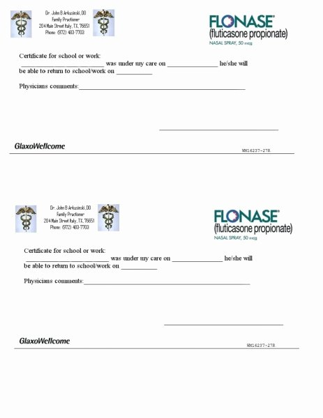 Blank Doctors Excuse form Fresh Blank Printable Doctor Excuse form Iu Health