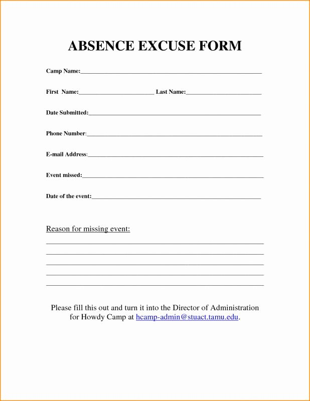 Blank Doctors Excuse form Inspirational Free Printable Doctors Excuse for Work