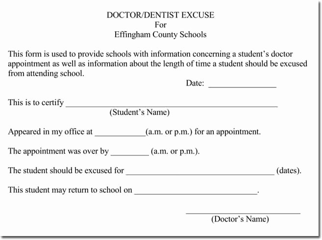 Blank Doctors Note for School Beautiful Doctor S Note Templates 28 Blank formats to Create