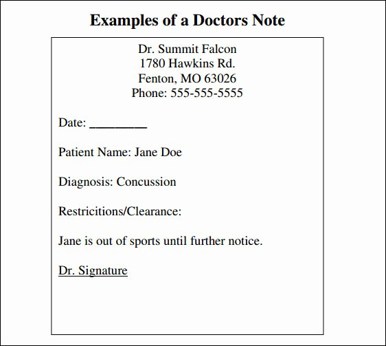 Blank Doctors Note for School Fresh 8 Best Of Blank Printable Doctor Note Pdf Fake
