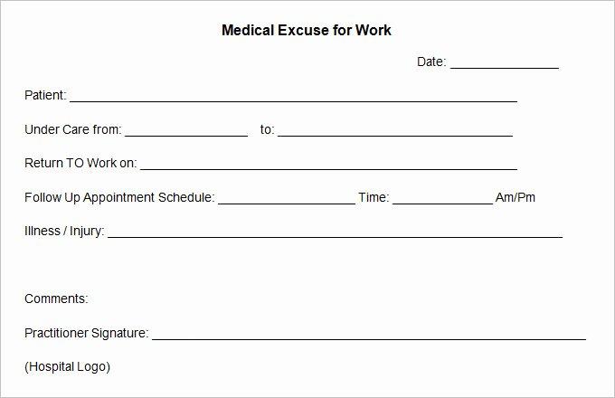 Blank Doctors Note for School Fresh Free Fill In the Blank Doctors Note