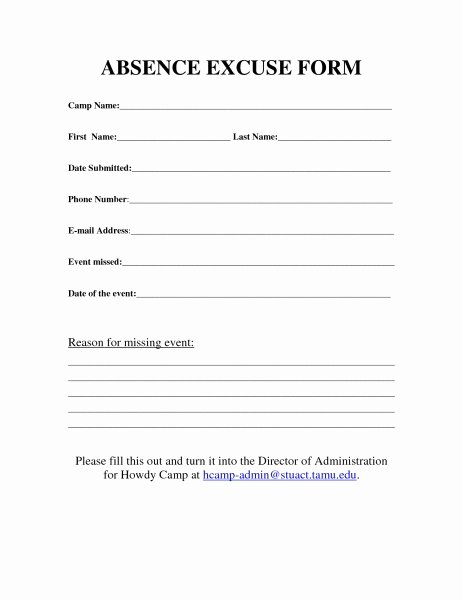 Blank Doctors Note for School Inspirational Funeral Work Excuse forms Printable