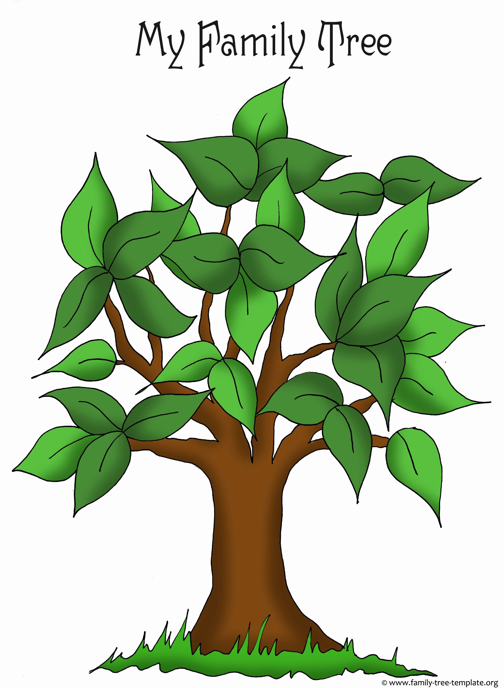 Blank Family Tree Poster Lovely Family Tree Templates & Genealogy Clipart for Your