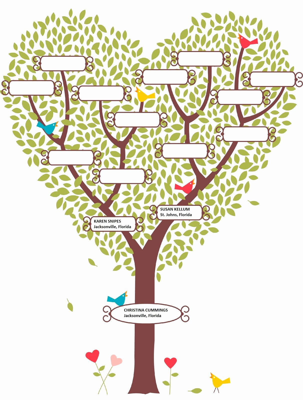 Blank Family Tree Template Awesome Blank Family Tree Template