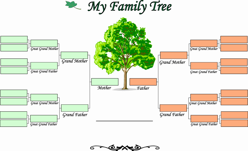 Blank Family Tree Template Elegant Blank Family Tree Template