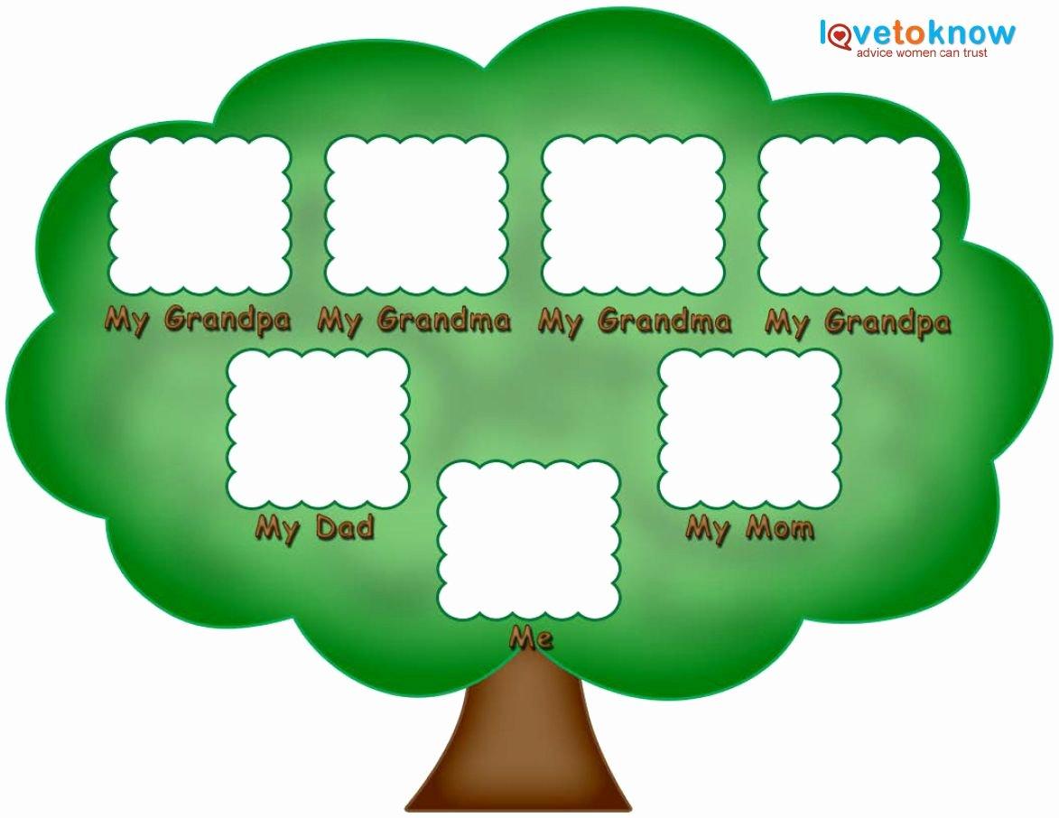 Blank Family Tree Template Elegant Preschool Family Tree Family Tree Kids
