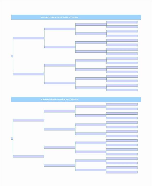 Blank Family Tree Template Lovely Sample Blank Family Tree Template 8 Free Documents