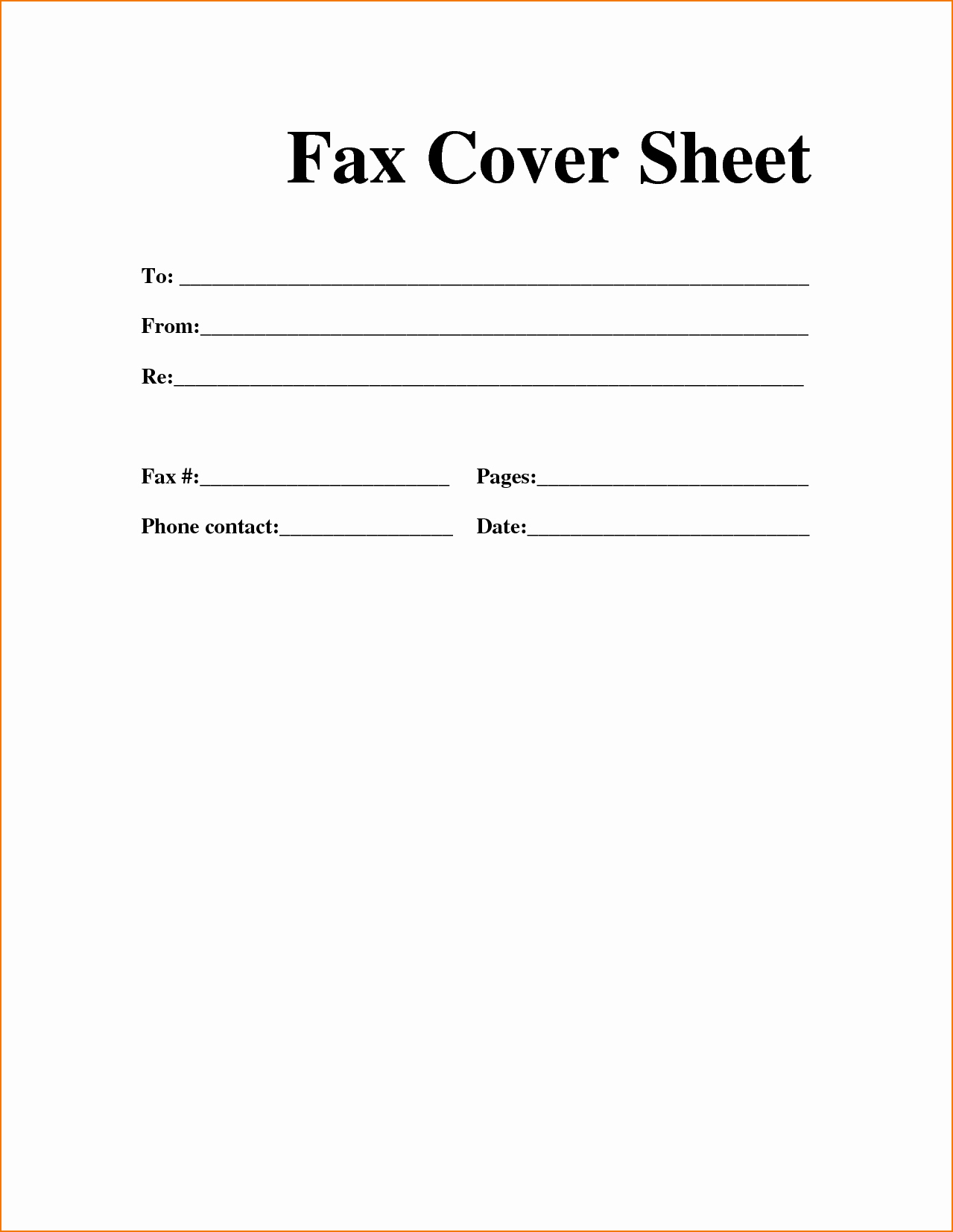 Blank Fax Cover Page Inspirational 6 Example Fax Cover Sheet