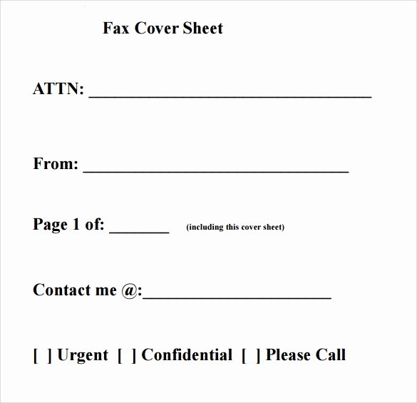 Blank Fax Cover Page Inspirational Sample Fax Cover Sheet 27 Free Documents In Pdf Word