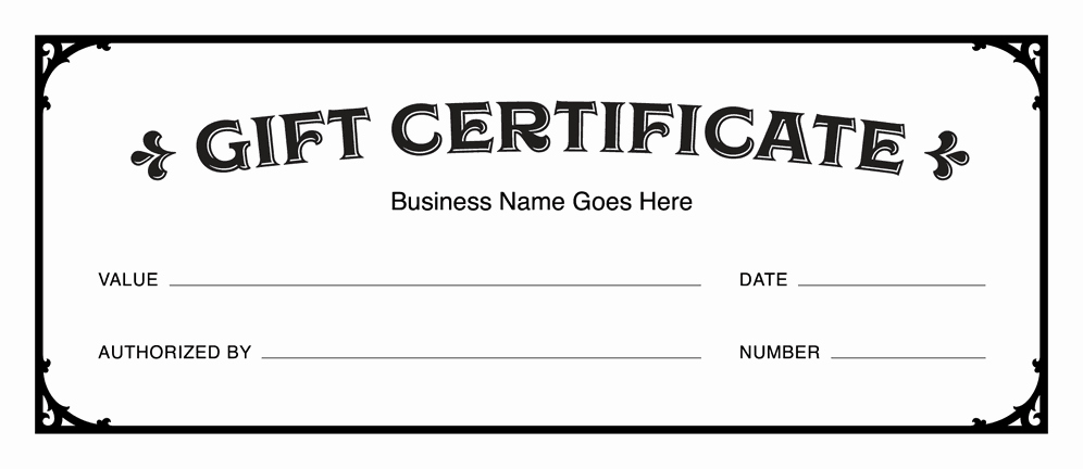 Blank Gift Certificate Template Free Beautiful Gift Certificate Templates Download Free Gift