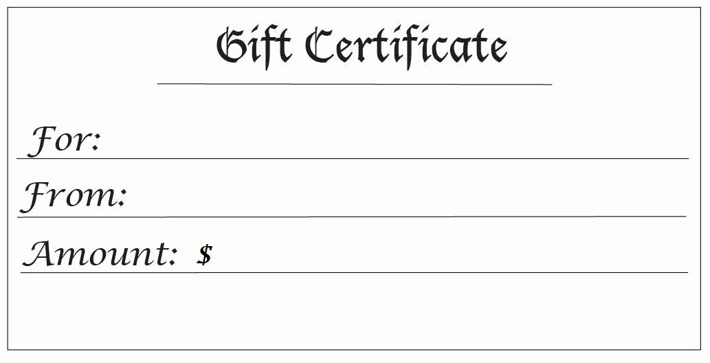 Blank Gift Certificate Template Free Best Of 28 Cool Printable Gift Certificates
