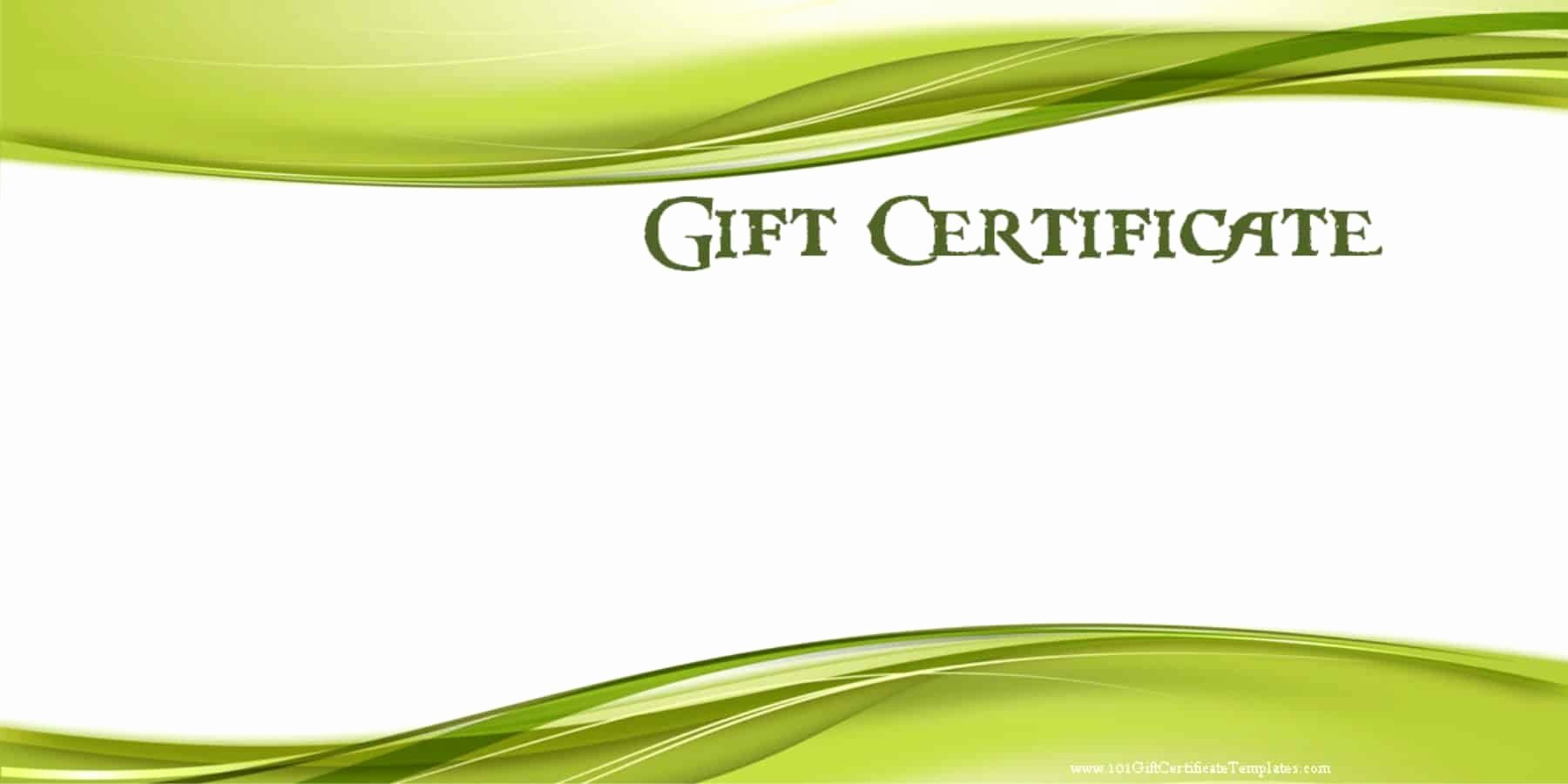 Blank Gift Certificate Template Free Best Of Printable Gift Certificate Templates