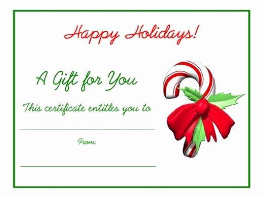 Blank Gift Certificate Template Free Elegant Free Holiday Gift Certificates Templates to Print