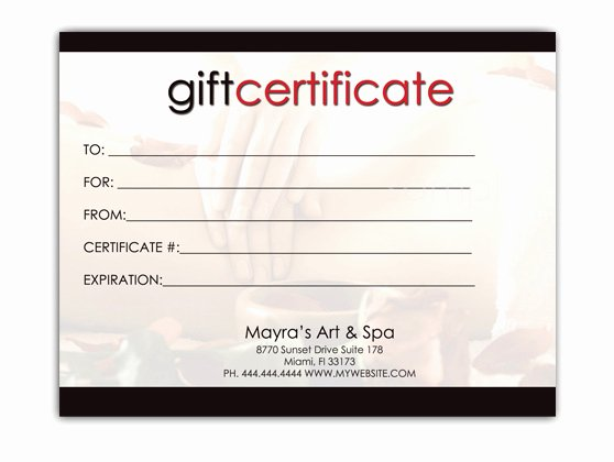 Blank Gift Certificate Template Free Lovely Free Download Editable Gift Certificate Template Sample