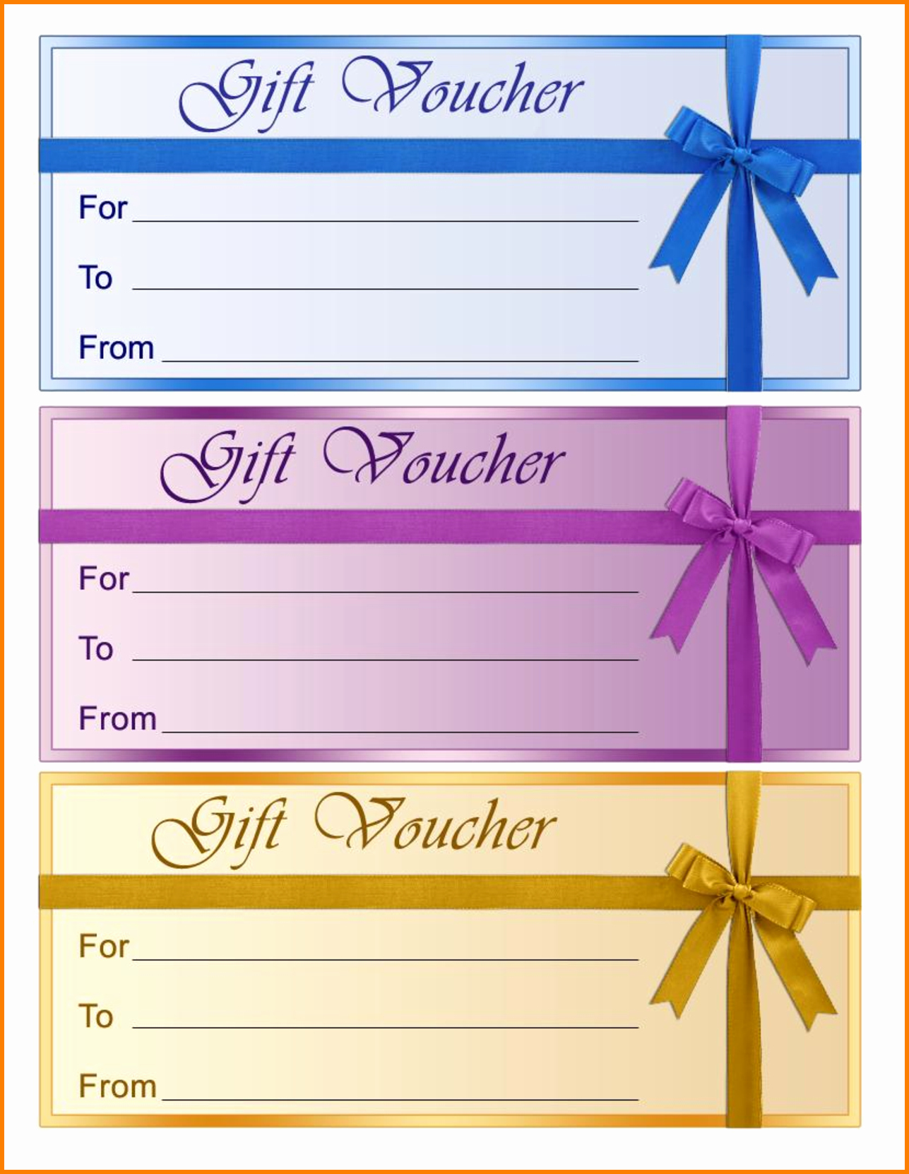 Blank Gift Certificate Template Free New Perfect format Samples Of Gift Voucher and Certificate