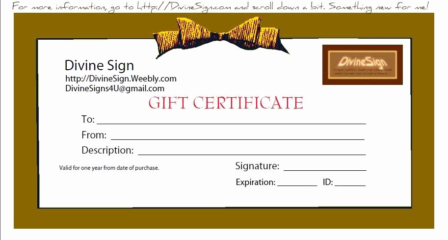 Blank Gift Certificate Template Free Unique Template Printable Gallery Category Page 46