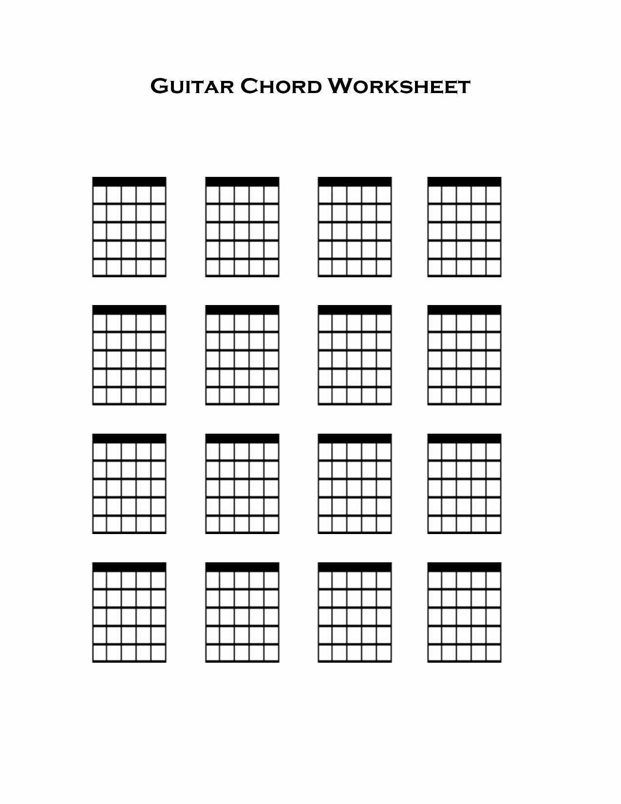 Blank Guitar Tab Fresh Blank Guitar Chord Charts 1275×1650