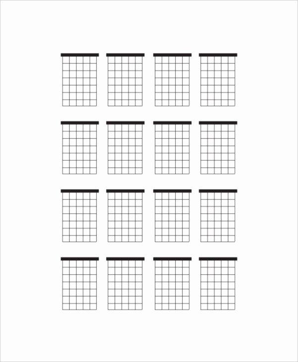 Blank Guitar Tab Inspirational 5 Blank Guitar Chord Charts Free Sample Example