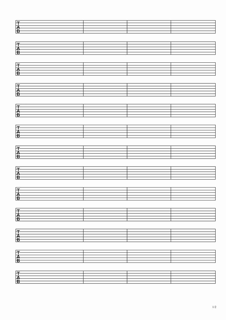 Blank Guitar Tab Inspirational Tablature Paper Printable Google Search