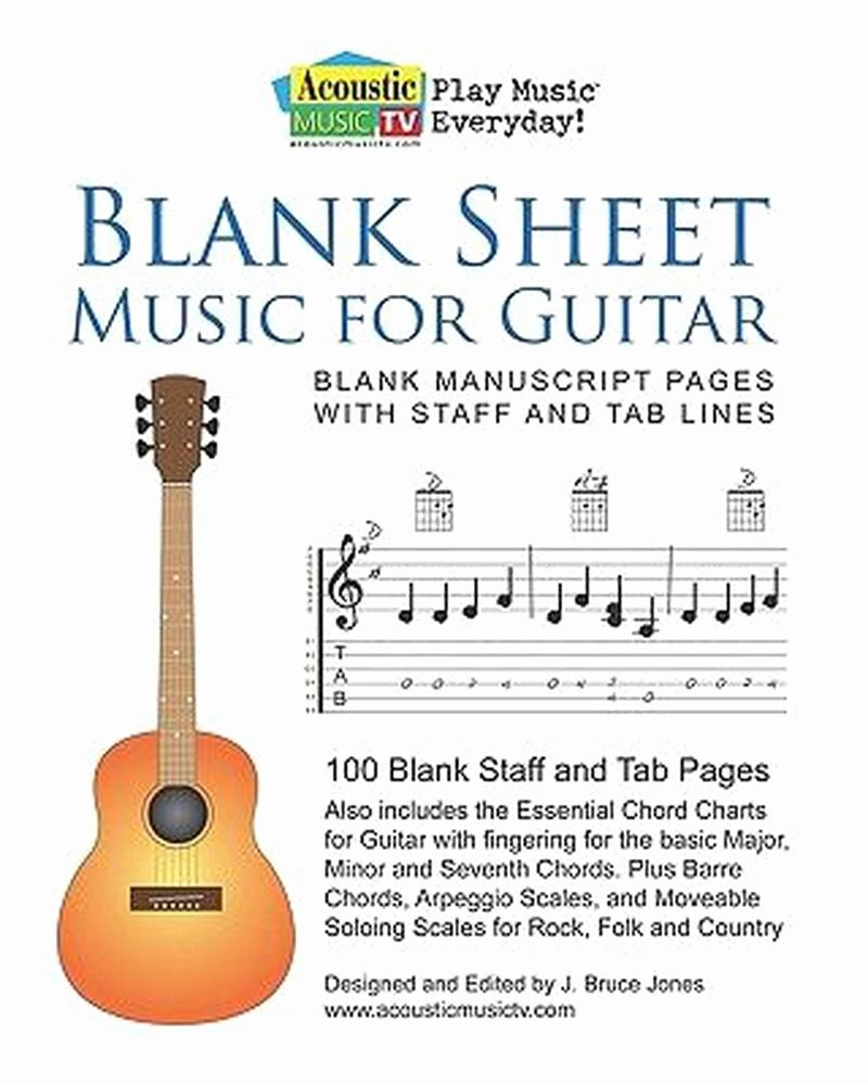 Blank Guitar Tab New Blank Sheet Music for Guitar Blank Manuscript Pages with