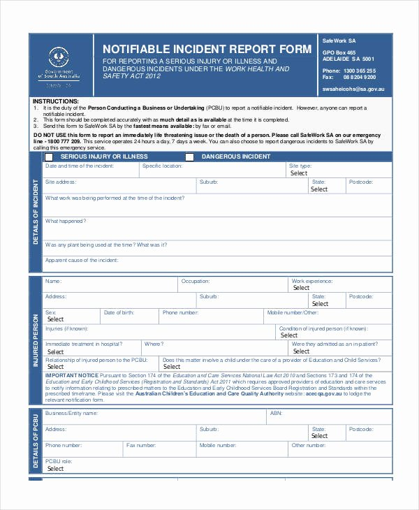 Blank Incident Report form Beautiful Blank Incident Report Template 18 Free Pdf Word Docs