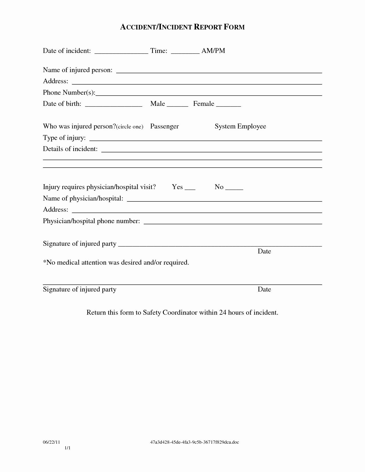 Blank Incident Report form Best Of Other Template Category Page 3 Spelplus