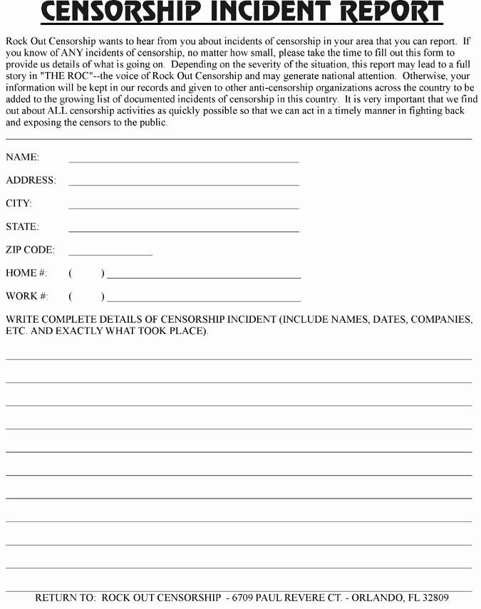 Blank Incident Report form Elegant Best S Of Free Police Incident forms Printable