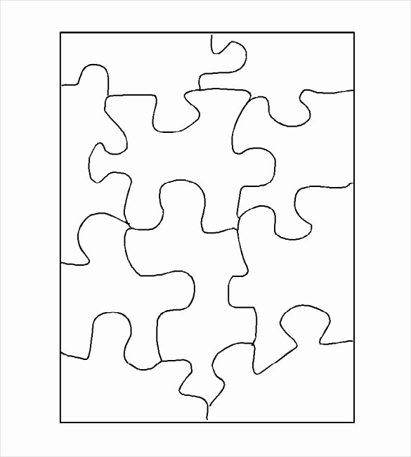 Blank Jigsaw Puzzle Template Awesome Puzzle Template Blank Puzzle Template