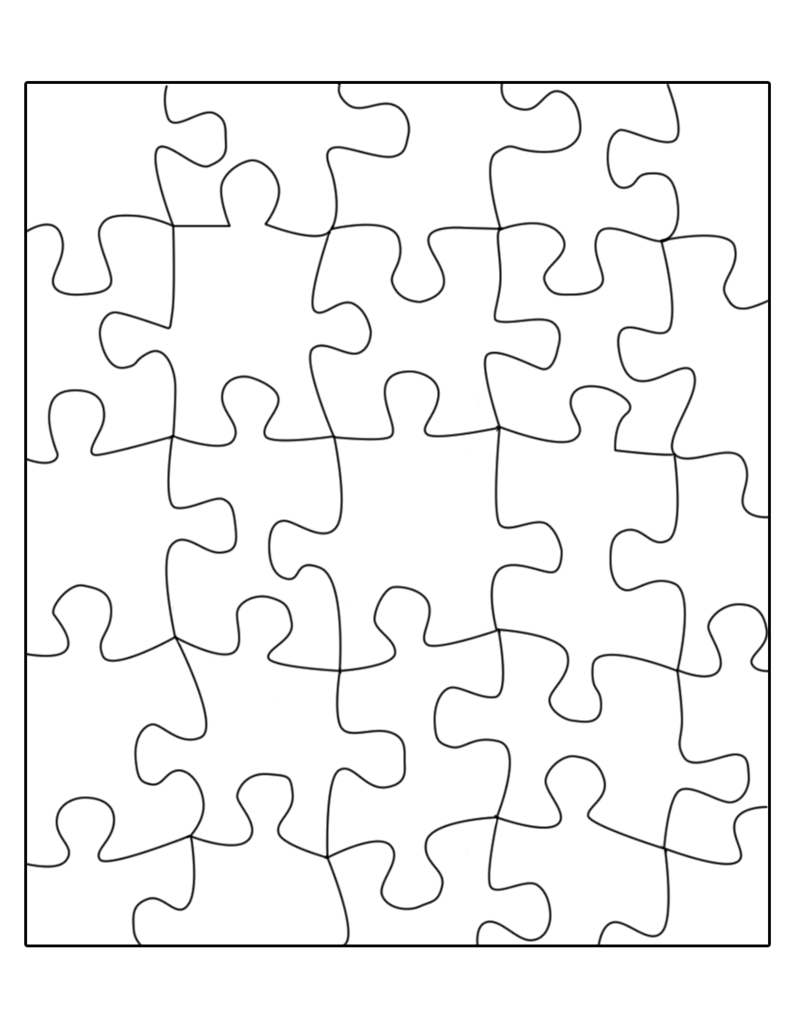 Blank Jigsaw Puzzle Template Best Of Printable Puzzle Pieces Template