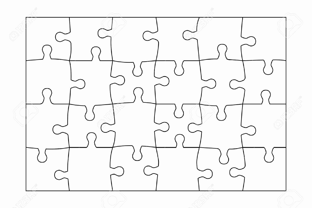 Blank Jigsaw Puzzle Template Elegant 24 Piece Puzzle Template Google Search