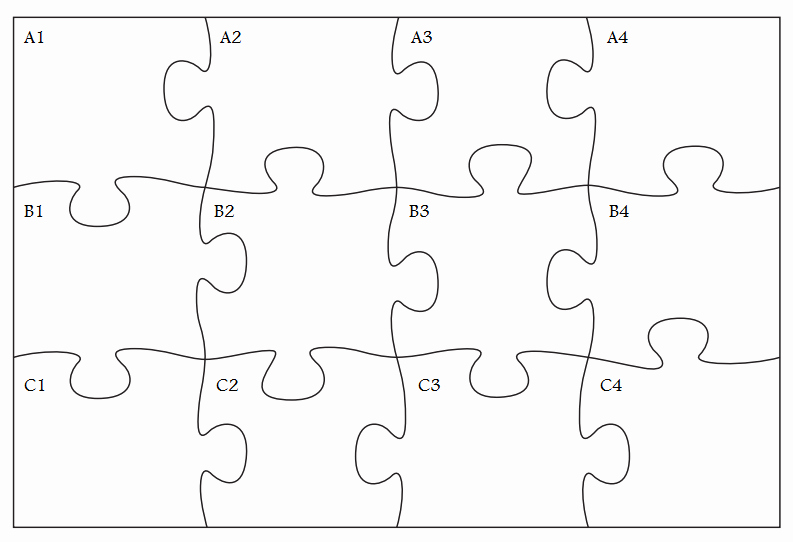 Blank Jigsaw Puzzle Template Inspirational Gallery for Cool Puzzle Pieces Template