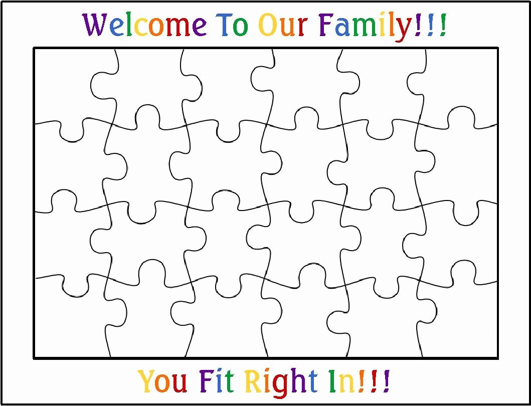 Blank Jigsaw Puzzle Template Unique Best S Of 24 Piece Puzzle Template Blank Jigsaw
