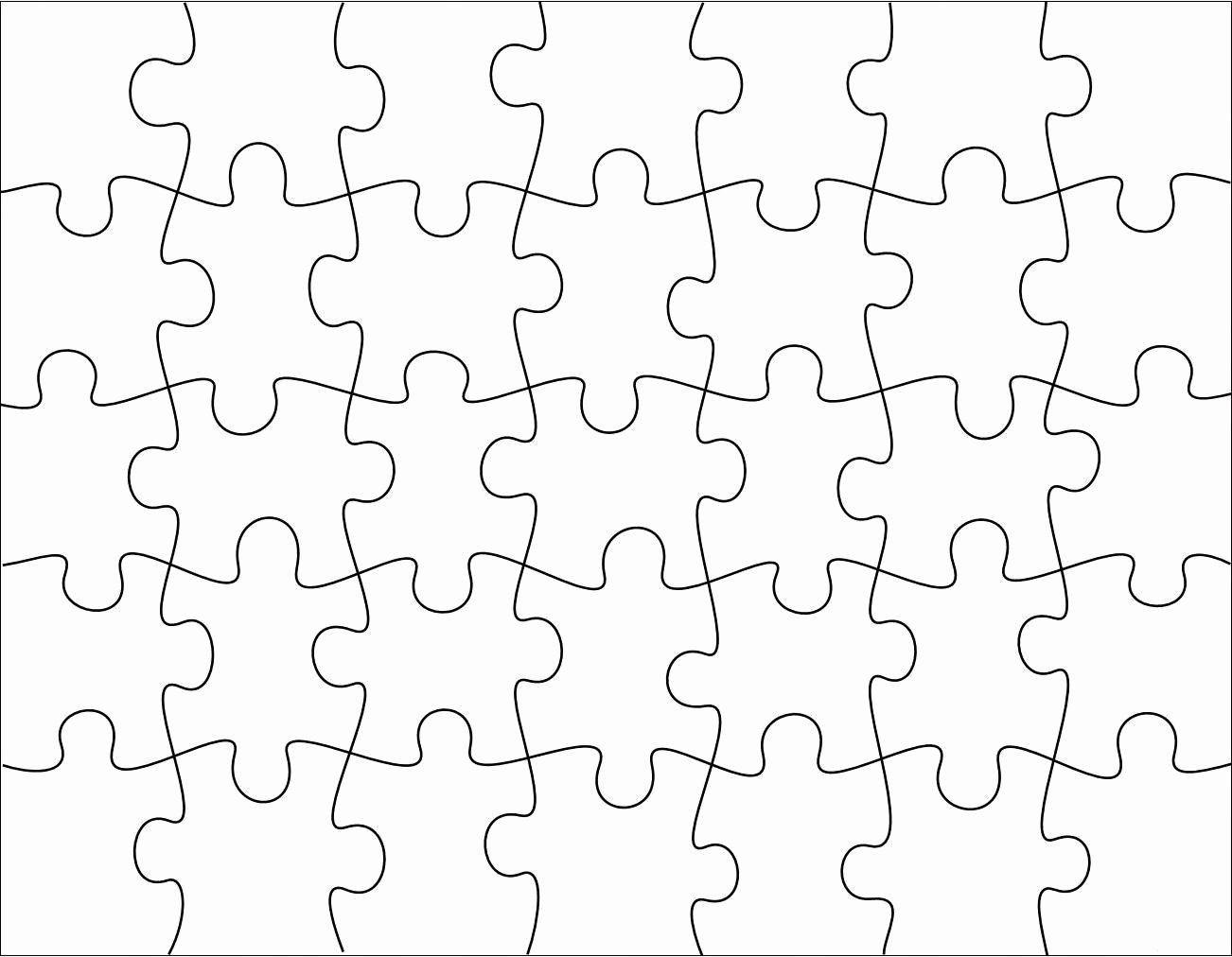Blank Jigsaw Puzzle Template Unique Jigsaw Template Free Downloads G Tpearl