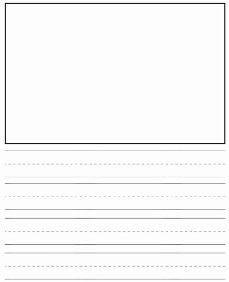 Blank Lined Paper for Kindergarten Beautiful Preschool Writing Drawing Paper