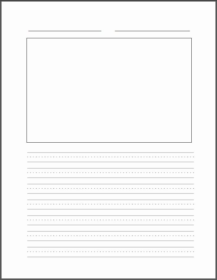 Blank Lined Paper for Kindergarten Best Of Four Line Writing Paper Printable Printable Pages