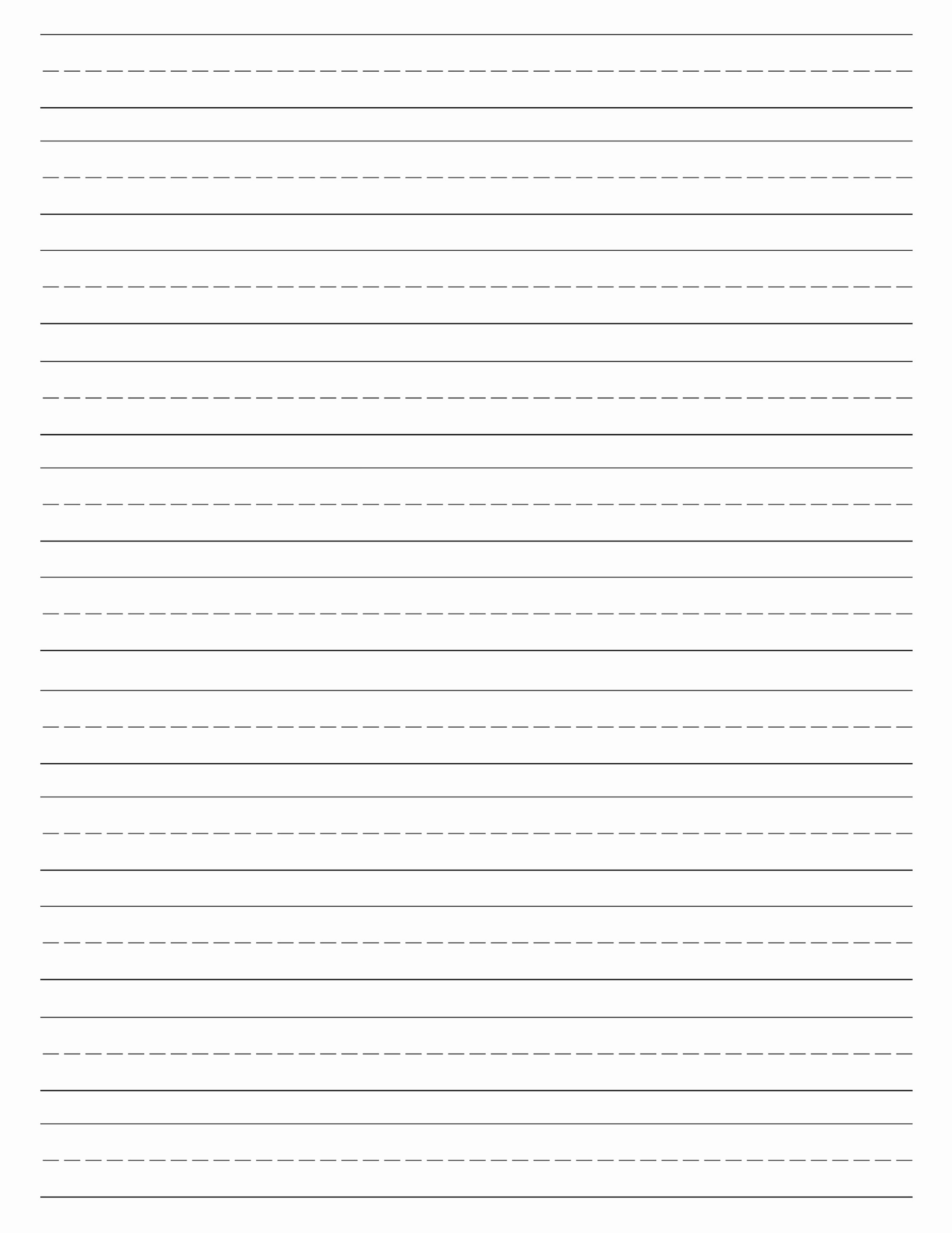 Blank Lined Paper for Kindergarten Elegant Free Printable Lined Paper Handwriting Paper Template