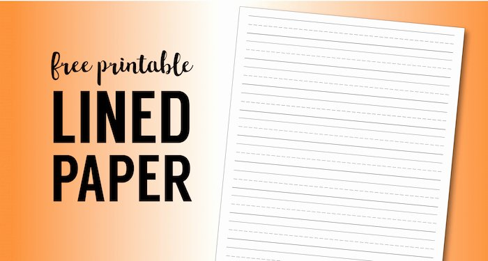 Blank Lined Paper for Kindergarten Fresh Free Printable Lined Paper Handwriting Paper Template