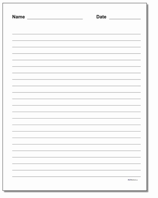 Blank Lined Paper for Kindergarten Lovely Handwriting Paper