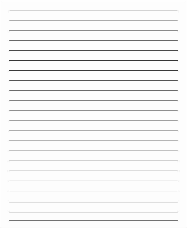 Blank Lined Paper for Kindergarten Luxury 14 Lined Paper Templates In Pdf