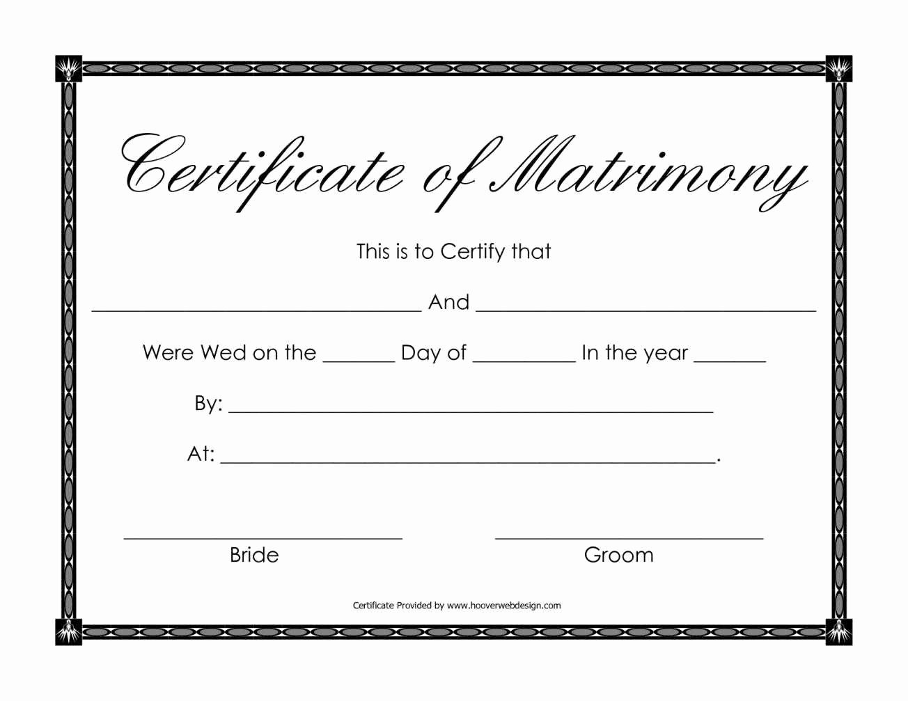 Blank Marriage Certificate Template Beautiful Certificate Templates Sample Marriage Certificates