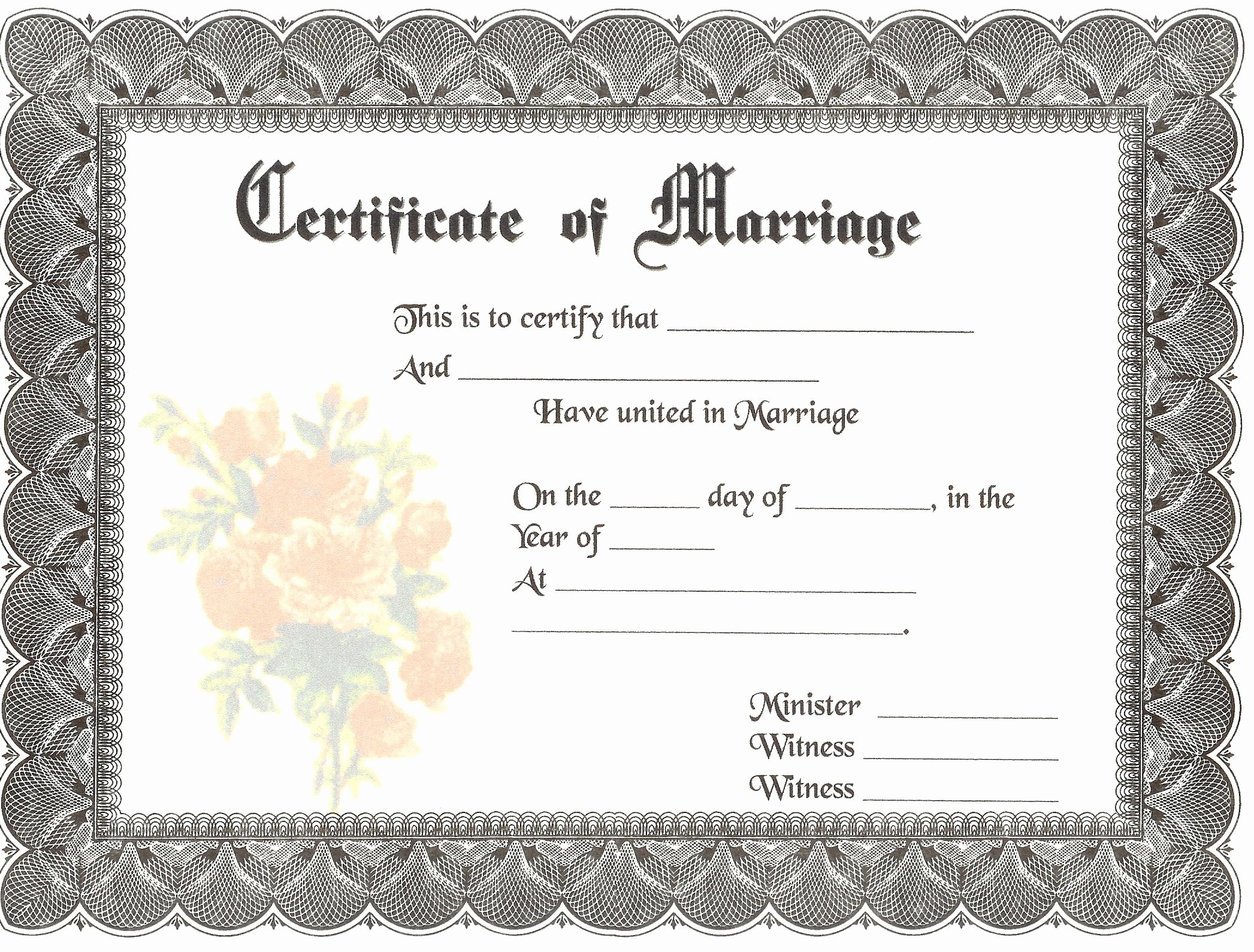Blank Marriage Certificate Template Best Of Blank Marriage Certificates
