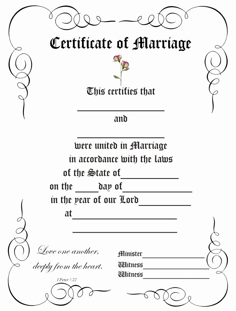 Blank Marriage Certificate Template Best Of Certificateofmarriage9