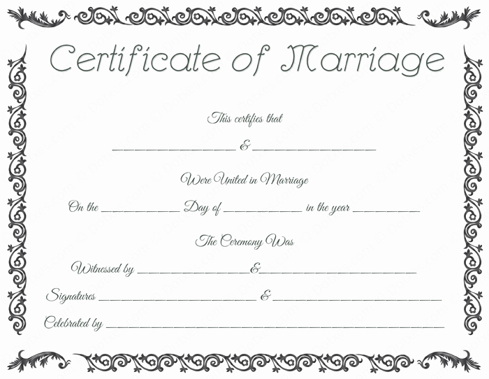 Blank Marriage Certificate Template Elegant Printable Marriage Certificate Template Dotxes