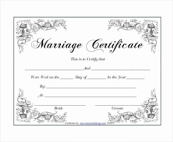 Blank Marriage Certificate Template Fresh 10 Marriage Certificate Templates