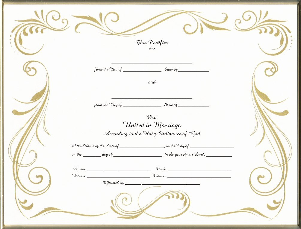 Blank Marriage Certificate Template Inspirational Blank Official Marriage