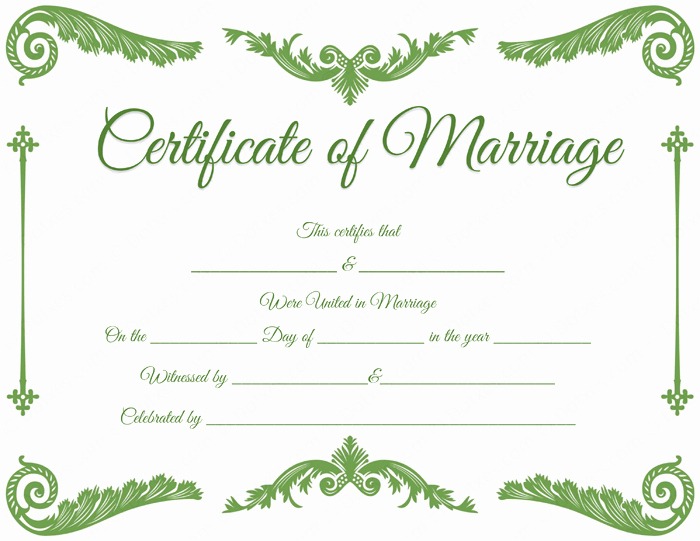 Blank Marriage Certificate Template Inspirational Royal Corner Marriage Certificate Template Dotxes